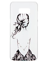 Недорогие -Кейс для Назначение SSamsung Galaxy S8 S7 Стразы Рельефный С узором Задняя крышка Соблазнительная девушка Мультипликация Цветы Твердый PC
