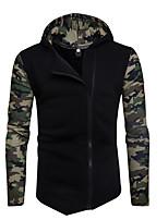 cheap -Men's Daily Hoodie Print Round Neck Micro-elastic Cotton Long Sleeve Winter Autumn/Fall