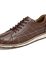 cheap -Men's Shoes Real Leather Cowhide Nappa Leather Spring Fall Driving Shoes Comfort Sneakers for Casual Office & Career Dark Brown Light