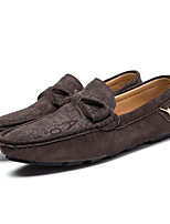 cheap -Men's Shoes Nubuck leather Spring Fall Comfort Loafers & Slip-Ons for Casual Khaki Blue Brown