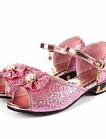 Недорогие -Девочки обувь Дерматин Весна Осень Удобная обувь Детская праздничная обувь Сандалии для Повседневные Серебряный Синий Розовый