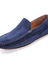 Недорогие -Муж. обувь Полиуретан Весна Осень Удобная обувь Мокасины и Свитер для на открытом воздухе Коричневый Синий Хаки