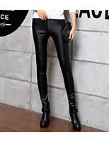 cheap -Women's Retro Cotton Opaque Solid Color Legging,Solid Black