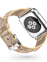 economico -Cinturino per orologio  per Apple Watch Series 3 / 2 / 1 Apple Custodia con cinturino a strappo Chiusura moderna Vera pelle