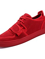 cheap -Men's Shoes PU Spring Fall Comfort Sneakers for Casual Red Black
