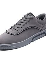Недорогие -Муж. обувь Полиуретан Зима Осень Удобная обувь Кеды для Повседневные на открытом воздухе Серый Черный и золотой Черно-белый