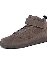 Недорогие -Для мужчин обувь Натуральная кожа Нубук Кожа Полиуретан Зима Осень Удобная обувь Светодиодные подошвы Кеды Пряжки для Атлетический Черный