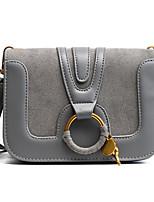 cheap -Women Bags PU Shoulder Bag Zipper for Casual All Season Brown Gray Red Black