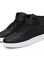 cheap -Men's Shoes PU Spring Fall Comfort Sneakers for Casual Black/White Black White
