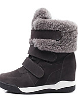 cheap -Women's Shoes Cotton Winter Fall Comfort Boots Flat Closed Toe Booties/Ankle Boots for Casual Outdoor Gray Black
