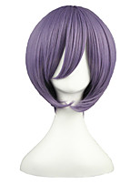 14inch Short Violet Suzumiya Haruhi no Yuuutu Nagato Yuki Synthetic Anime Cosplay Wig CS-001D