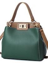 cheap -Women Bags PU Tote Zipper for Casual Office & Career All Season Dark Green Milky White Red Black