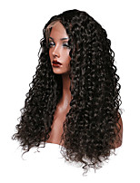 cheap -Human Hair Lace Front Wig Peruvian Hair Curly With Baby Hair Unprocessed 100% Virgin Natural Hairline Short Medium Long 150% Density