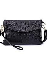 preiswerte -Damen Taschen Kuhfell Unterarmtasche Reißverschluss für Normal Alle Jahreszeiten Schwarz