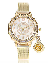 cheap -Women's Fashion Watch Wrist watch Chinese Quartz Imitation Diamond Alloy Band Flower Casual Gold
