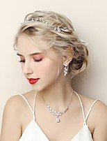 cheap -Women's Jewelry Set Cubic Zirconia Rhinestone Alloy Fashion Wedding Engagement 1 Necklace Earrings Costume Jewelry
