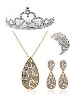 economico -Per donna Tiare I monili nuziali Strass Diamanti d'imitazione Lega Di forma geometrica goccia Di tendenza Europeo Matrimonio Feste