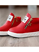 cheap -Girls' Shoes Leatherette Winter Fall Comfort Bootie Boots for Casual Pink Red Black White