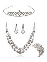 cheap -Women's Tiaras Bridal Jewelry Sets Rhinestone Imitation Diamond Alloy Geometric Fashion European Wedding Party Body Jewelry 1 Necklace 1
