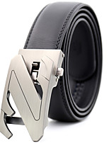 cheap -Men's Genuine Leather Waist Belt,Black Party Work Casual Word Modern Style Stylish