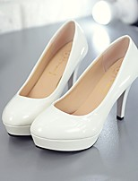 cheap -Women's Shoes PU Spring Fall Comfort Heels Stiletto Heel for Casual White Black Red Almond