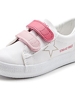 cheap -Girls' Shoes Leatherette Spring Fall Comfort Sneakers for Casual White/Blue Black/White Pink/White