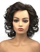 cheap -Synthetic Hair Wigs Curly African American Wig Celebrity Wig Natural Wigs Medium Medium Brown