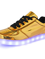 cheap -Men's Shoes PU Spring Fall Comfort Sneakers for Casual Gold Silver
