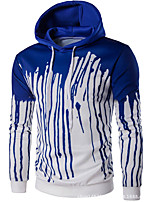cheap -Men's Petite Daily Casual Hoodie Color Block Hooded Hoodies Micro-elastic Polyester Long Sleeve Fall
