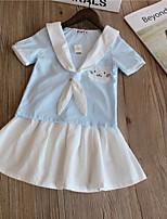 Недорогие -Девочки На каждый день Повседневные Однотонный Длинный рукав Обычная Шерсть / Хлопок / Бамбуковая ткань Набор одежды Розовый
