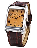 cheap -Men's Women's Wrist watch Chinese Quartz Casual Watch Leather Band Cool Brown