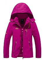 cheap -Women's Hiking Jacket Outdoor Windproof Rain-Proof Winter Jacket Jacket Top Full Length Visible Zipper Camping / Hiking Climbing Cycling