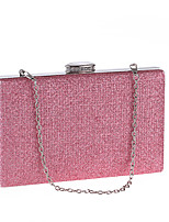 cheap -Ladies' Bags Polyester Evening Bag Crystal Detailing for Wedding Event/Party All Season Blushing Pink Silver Black Gold Blue
