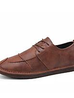 Недорогие -Муж. обувь Полиуретан Дерматин Весна Формальная обувь Удобная обувь Кеды для Повседневные на открытом воздухе Черный Серый Коричневый
