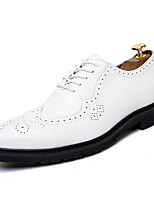 cheap -Men's Shoes Synthetic Microfiber PU Spring Fall Driving Shoes Formal Shoes Oxfords for Casual Office & Career Brown Black White
