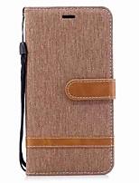 abordables -Funda Para Xiaomi Redmi Note 5A Soporte de Coche Cartera Antigolpes Flip Magnética Funda de Cuerpo Entero Color sólido Dura Textil TPU