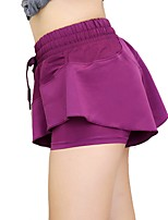 cheap -Women's Running Shorts Bottoms Running/Jogging Polyester Spandex Slim Purple Orange Black L M S