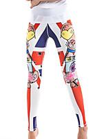 preiswerte -Damen Mittel Polyester Genähte Spitzen Legging,Orange