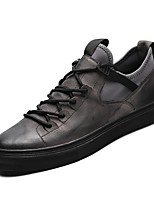 cheap -Men's Shoes Nappa Leather Winter Fall Comfort Sneakers for Casual Outdoor Black Gray