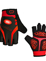 cheap -Sports Gloves Sports Gloves Bike Gloves / Cycling Gloves Wearable Breathable Anti-Shock Fingerless Gloves Lycra Mountain Cycling Road