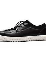 cheap -Men's Shoes Rubber Spring Fall Comfort Sneakers for Outdoor White Black Brown