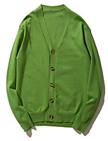 cheap -Men's Simple Long Sleeves Cardigan - Solid Color, Classic Style V Neck