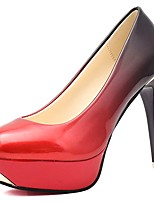 cheap -Women's Shoes PU Fall Basic Pump Comfort Heels Stiletto Heel Pointed Toe for Office & Career Dress Red Dark Grey Gray Black