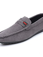 cheap -Men's Shoes Rubber Spring Fall Moccasin Loafers & Slip-Ons for Outdoor Black Gray Red