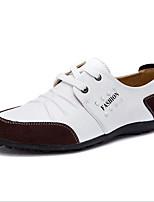 Недорогие -Муж. обувь Кожа Все Seazons Удобная обувь Туфли на шнуровке для Повседневные Белый Черный Желтый Синий
