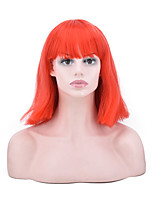 cheap -Cosplay Women Synthetic Wig Short Straight Orange Color Natural Wigs Costume Wig