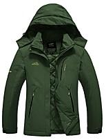 cheap -Men's Hiking Jacket Outdoor Winter Windproof Rain-Proof Winter Jacket Jacket Top Full Length Visible Zipper Camping / Hiking Climbing
