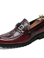cheap -Men's Shoes PU Spring Fall Comfort Loafers & Slip-Ons for Office & Career Burgundy Black