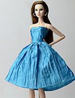 Недорогие -Платья Платье Для Кукла Барби Синий Платья Для Девичий игрушки куклы