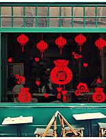 Недорогие -Праздник Наклейки 3D наклейки Декоративные наклейки на стены,Бумага Украшение дома Наклейка на стену Стена Стекло / ванной комнаты